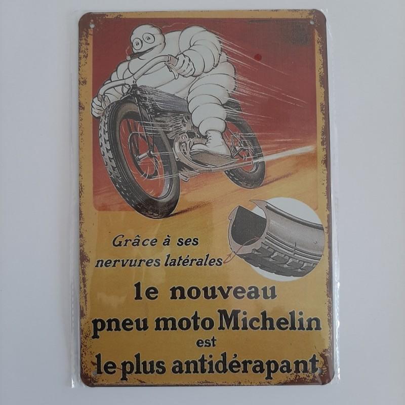 plaque metal decoration vintage michelin