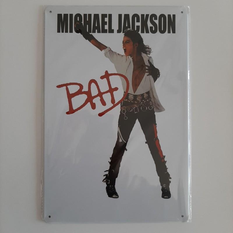 plaque métal vintage musique Michael Jackson Bad