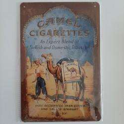 plaque métal décoration vintage publicitaire camel cigarettes
