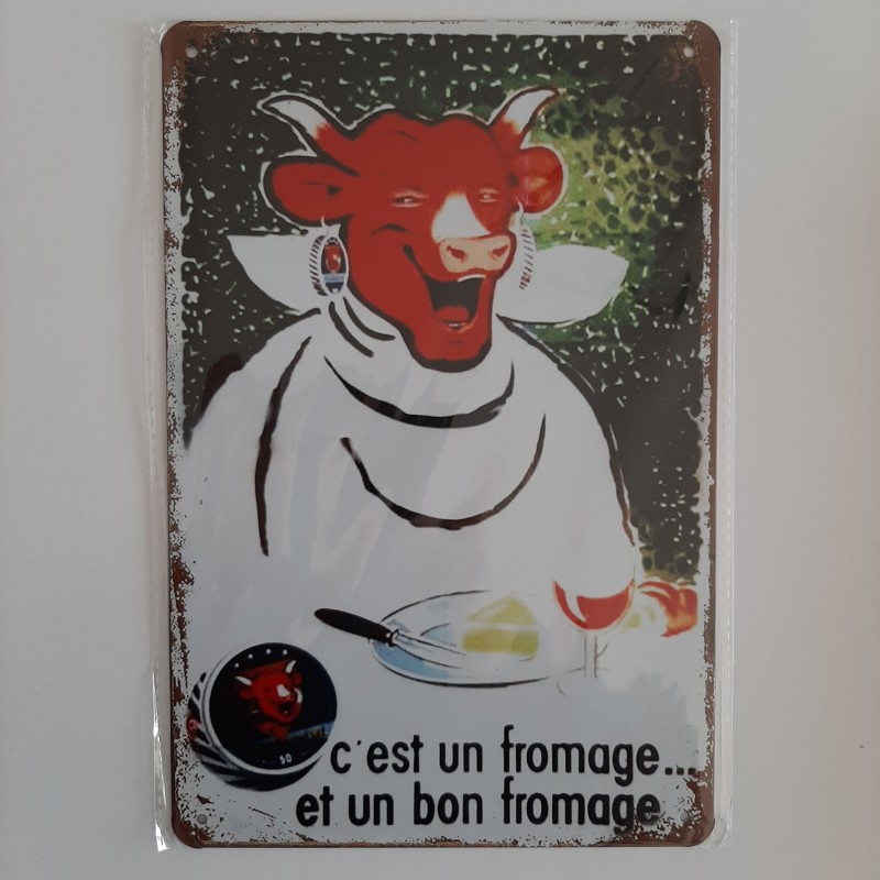 plaque métal décoration vintage publicitaire la vache qui rit