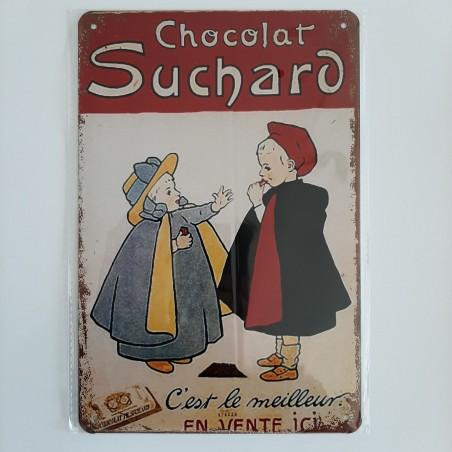 plaque métal décoration vintage publicitaire chocolat Suchard