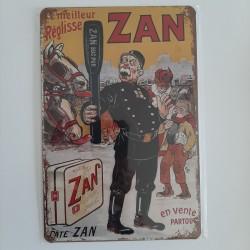 plaque métal décoration vintage publicitaire Zan le meilleur réglisse