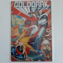 plaque metal vintage goldorak
