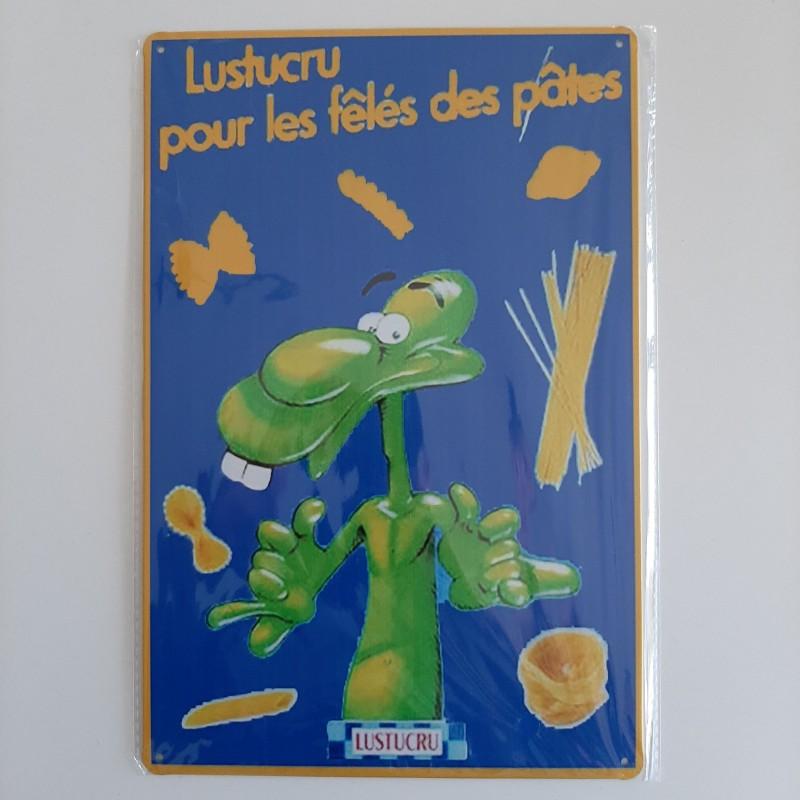plaque publicitaire en métal de décoration vintage lustucru