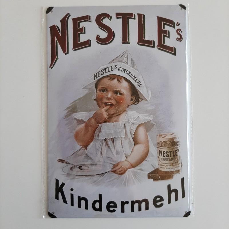plaque métal décoration vintage publicitaire nestle
