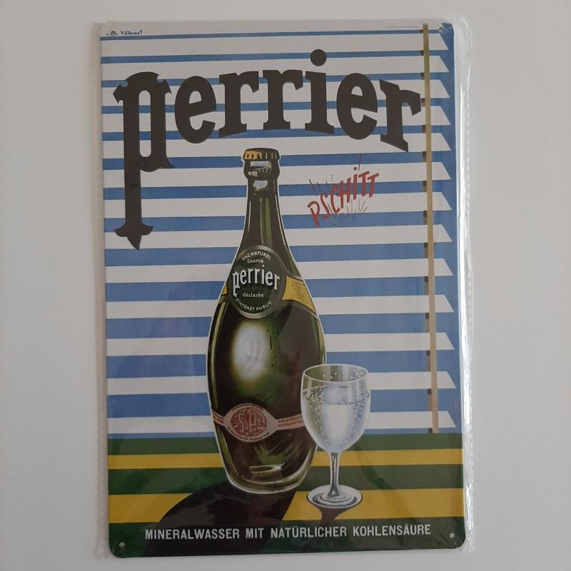 plaque métal décoration vintage publicitaire bar boisson perrier