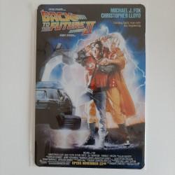 plaque métal vintage cinéma retour vers le futur II