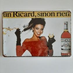 plaque métal décoration vintage Bar Ricard