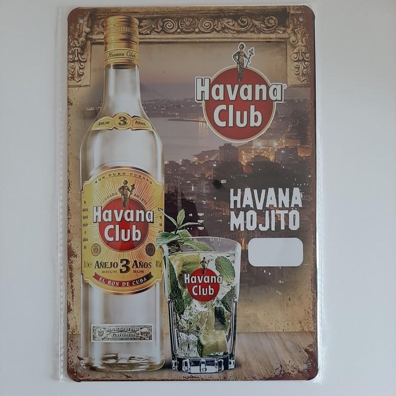 plaque métal décoration vintage Bar boisson havana club