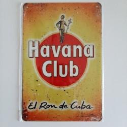 plaque métal décoration vintage Bar boisson havana club el rom de cuba