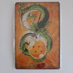 plaque métal décoration vintage dessin animé dragon ball z