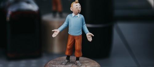 Plaques métal vintage de décoration Tintin / BD dessins animés.