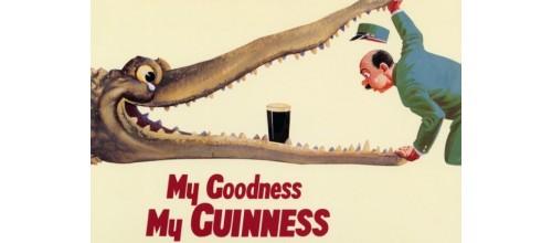 Plaque métal vintage décoration Guinness