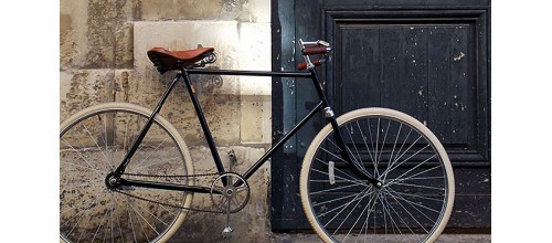 Plaques métal vintage décoration vélo