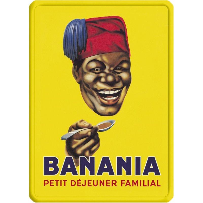 plaque en metal publicitaire vintage banania